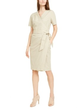 Max Mara Cotton Faux-Wrap Dress