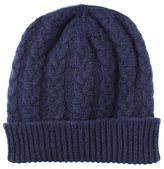 ScotlandShop Pure Cashmere Cable Knit Beanie Hat made in Scotland ( Gray)