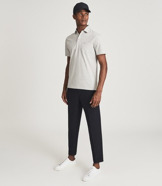 Reiss ELLIOT MERCERISED EGYPTIAN COTTON POLO Grey Melange