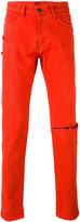424 Fairfax - ripped knee slim-fit jeans - men - Cotton - 29