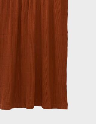 Hawkins New York Simple Waffle Shower Curtain in Terracotta