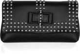 Sweet Charity Optic studded leather clutch