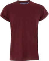 Topman BURGUNDY HIGH ROLL T-Shirt