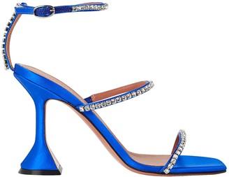 Amina Muaddi Gilda Leather Sandals