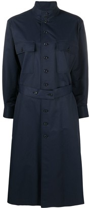 Comme des Garcons Long-Sleeved Buttoned Midi Dress