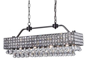"""Home Accessories Fintra 12"""" 4-Light Indoor Pendant Lamp with Light Kit"""