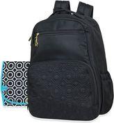 Jonathan Adler Quilted Backpack Diaper Bag in Black