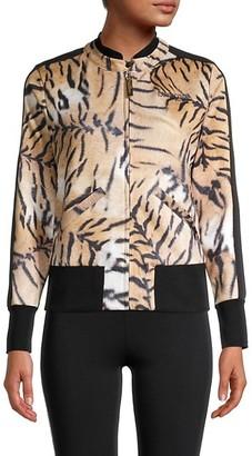 Roberto Cavalli Sport Animal-Print Jacket