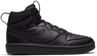 Nike Kids Court Borough Mid 2 Trainers in Leather