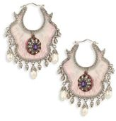 Alexander McQueen Crystal & Faux-Pearl Evening Earrings