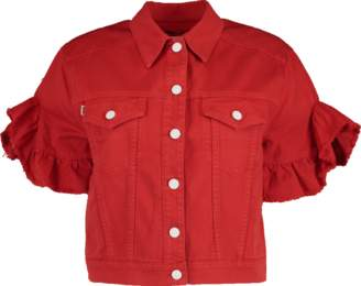 MSGM Ruffle Denim Jacket