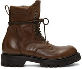 Rick Owens Brown Low Army Boots
