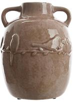 John Lewis Embossed Bird Stone Vase, Pink