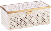 Mela Artisans Natural Bone Ivory Chantilly Box Large