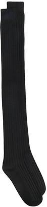 Moncler + Rick Owens Ribbed Logo Socks