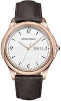 Emporio Armani Men's Swiss Esedra Brown Leather Strap Watch 43mm ARS8601