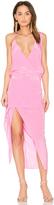 Michelle Mason Asymmetrical Midi Dress