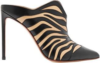 Francesco Russo Zebra-print Leather Mules