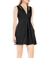 BCBGMAXAZRIA Cutout V-Neck Dress
