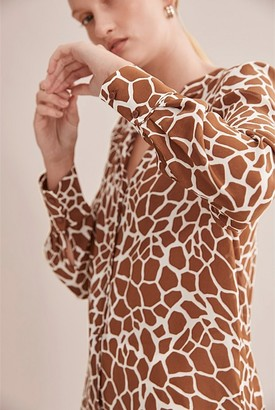 Country Road Urban Long Sleeve Print Blouse