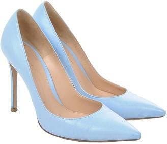 Gianvito Rossi Gianvito Blue Leather Heels