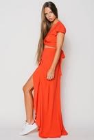 Flynn Skye Wrap It Up Skirt in Blood Orange