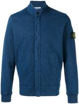Stone Island high neck buttoned sweatshirt - men - Cotton - XL
