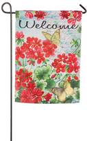 "Evergreen 18"" x 12.5"" Floral ""Welcome"" Indoor / Outdoor Garden Flag"