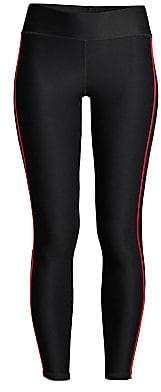 Terez Women's Rib Piping Racing Stripe Leggings