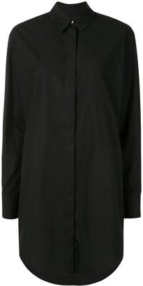 Karl Lagerfeld Paris Embellished Cotton Long Shirt