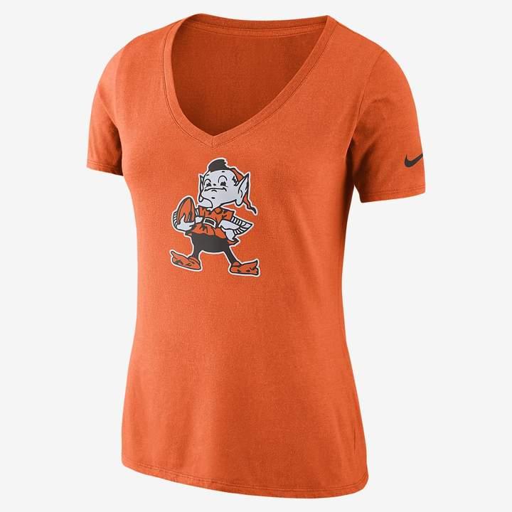 aaf502587c Women's Tri-Blend T-Shirt Historic V-Neck (NFL Browns)