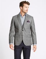 Marks and Spencer Pure Wool Tailored Fit Herringbone Jacket