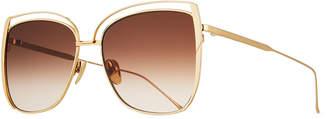 SUNDAY SOMEWHERE Poppy Cutout Titanium Square Sunglasses