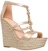 MICHAEL Michael Kors Suki Wedge Heeled Sandals, Gold