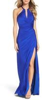 La Femme Women's Strappy Wrap Gown