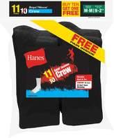 Hanes Boys` EZ-Sort 11-Pack Crew Socks, 421/11, M