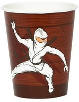 BuySeasons Ninja Warrior 9oz Paper Cups - 8 count