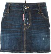 DSQUARED2 low waist mini skirt - women - Cotton/Spandex/Elastane/Polyurethane/Viscose - 40