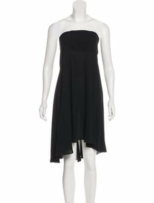 Chanel Strapless Silk Dress Black