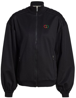 Gucci Elbow-Pad Technical Jersey Zip Jacket