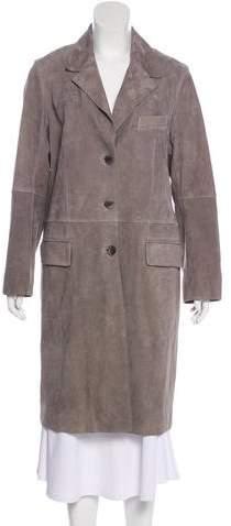 Gerard Darel Suede Knee-Length Coat w/ Tags