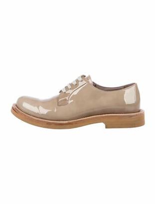Brunello Cucinelli Patent Leather Oxfords Brown
