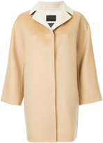 TOMORROWLAND contrast collar single breasted coat