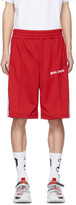 Palm Angels Red Track Shorts