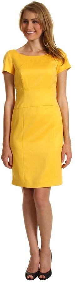 Tahari by Arthur S. Levine Tahari by ASL - Jessielynn Satin Stretch Dress (Yellow) - Apparel