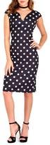 Wallis Women's Polka Dot Sheath Dress