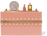 Charlotte Olympia Barbie® Barbie World Perspex Box Clutch - Pink
