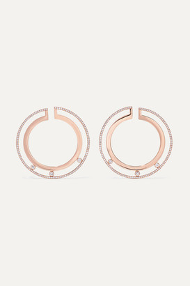 Messika Move Romane Large 18-karat Rose Gold Diamond Hoop Earrings - one size