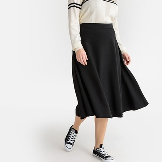 Castaluna Plus Size Plain Flared Midi Skirt