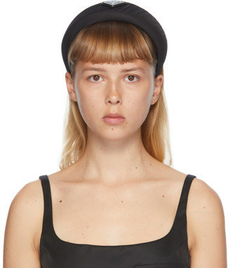 Prada Black Logo Headband